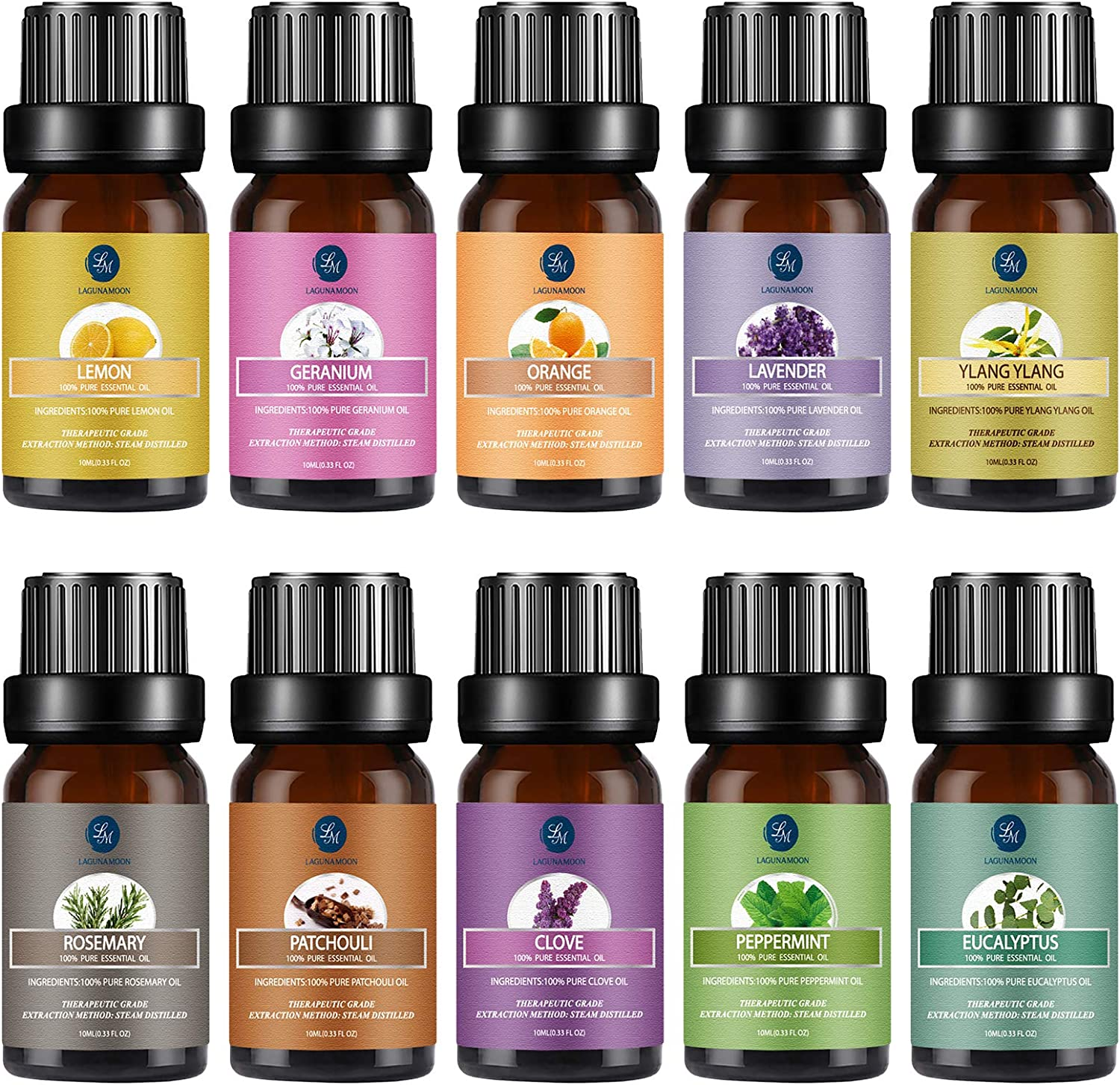 Lagunamoon Essential Oils Gift Set for Diffuser: Health & Personal Care