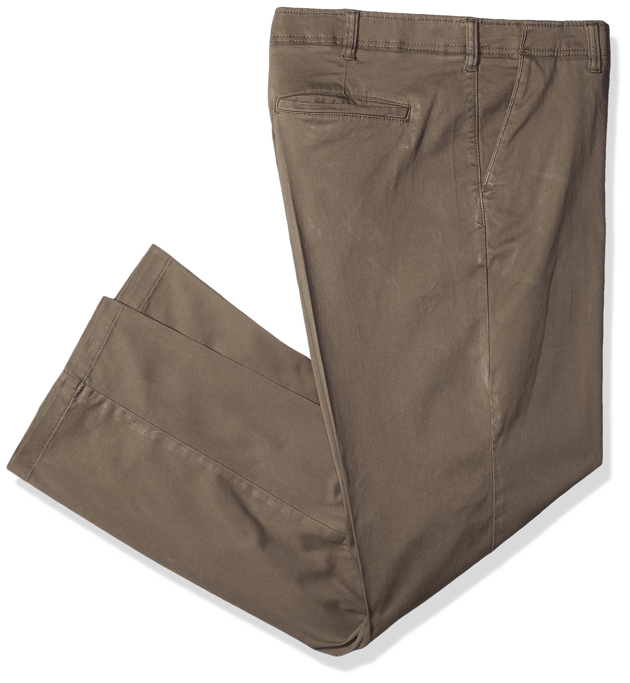 Lee Men's Big and Tall Performance Series Extreme Comfort Khaki Pant, Woodspice, 50W x 30L