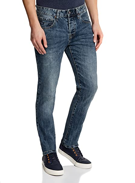 oodji Ultra Herren Jeans Slim Fit Basic