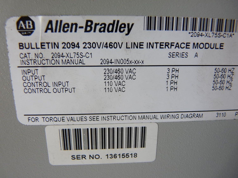 Allen Bradley 2094 Xl755 C1 Line Interface Module 75a 230 460vac Wiring Diagram Industrial Scientific