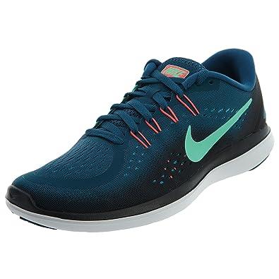 9ab74bdabf69a Nike Flex RN 2017 Legion Blue Green Glow Black Hot Punch Women s Running  Shoes  Amazon.in  Shoes   Handbags
