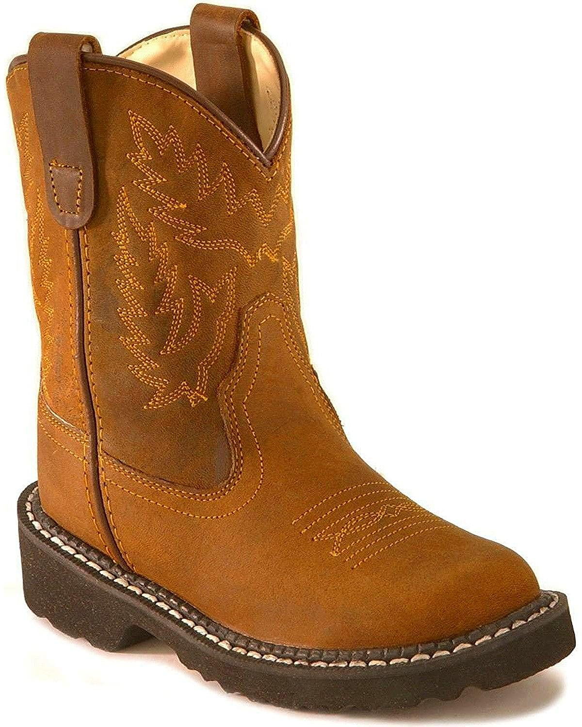 Old West Boys Crazyhorse Tubbies Boot Round Toe