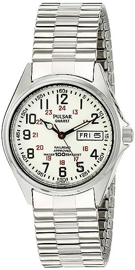 Pulsar PXN021 - Reloj de Pulsera Hombre, Acero Inoxidable, Color Plata: Amazon.es: Relojes