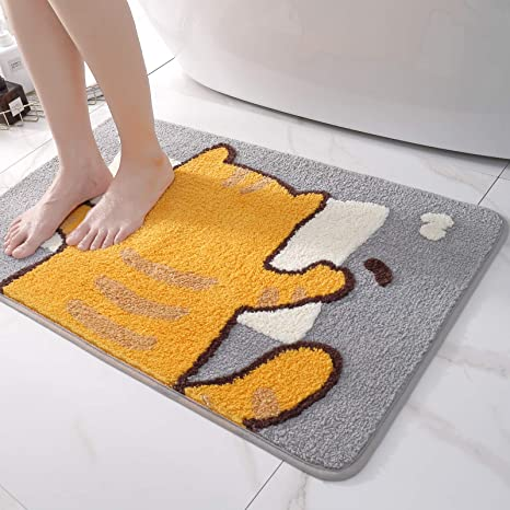 Non Slip Thick Large Bathroom Rugs Bath Mats Extra Soft Absorbent Shower Carpet