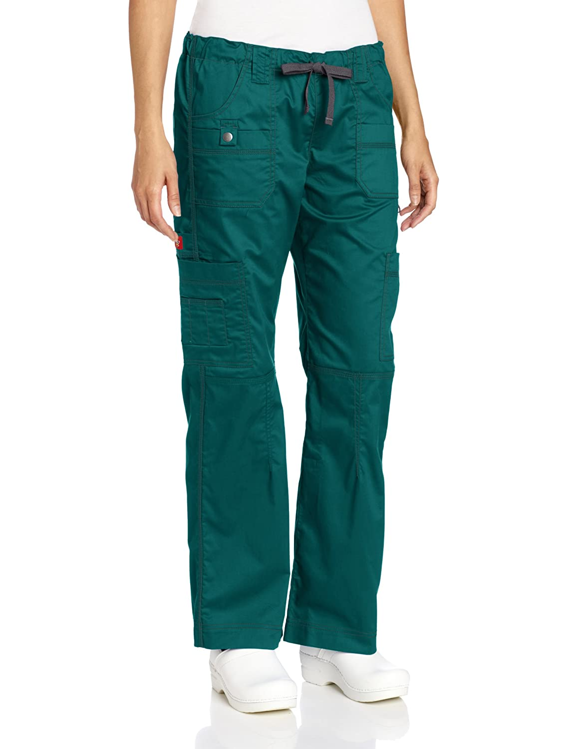 Dickies Scrubs Women's Gen Flex Junior-Fit Contrast Stitch Cargo Pant 857455
