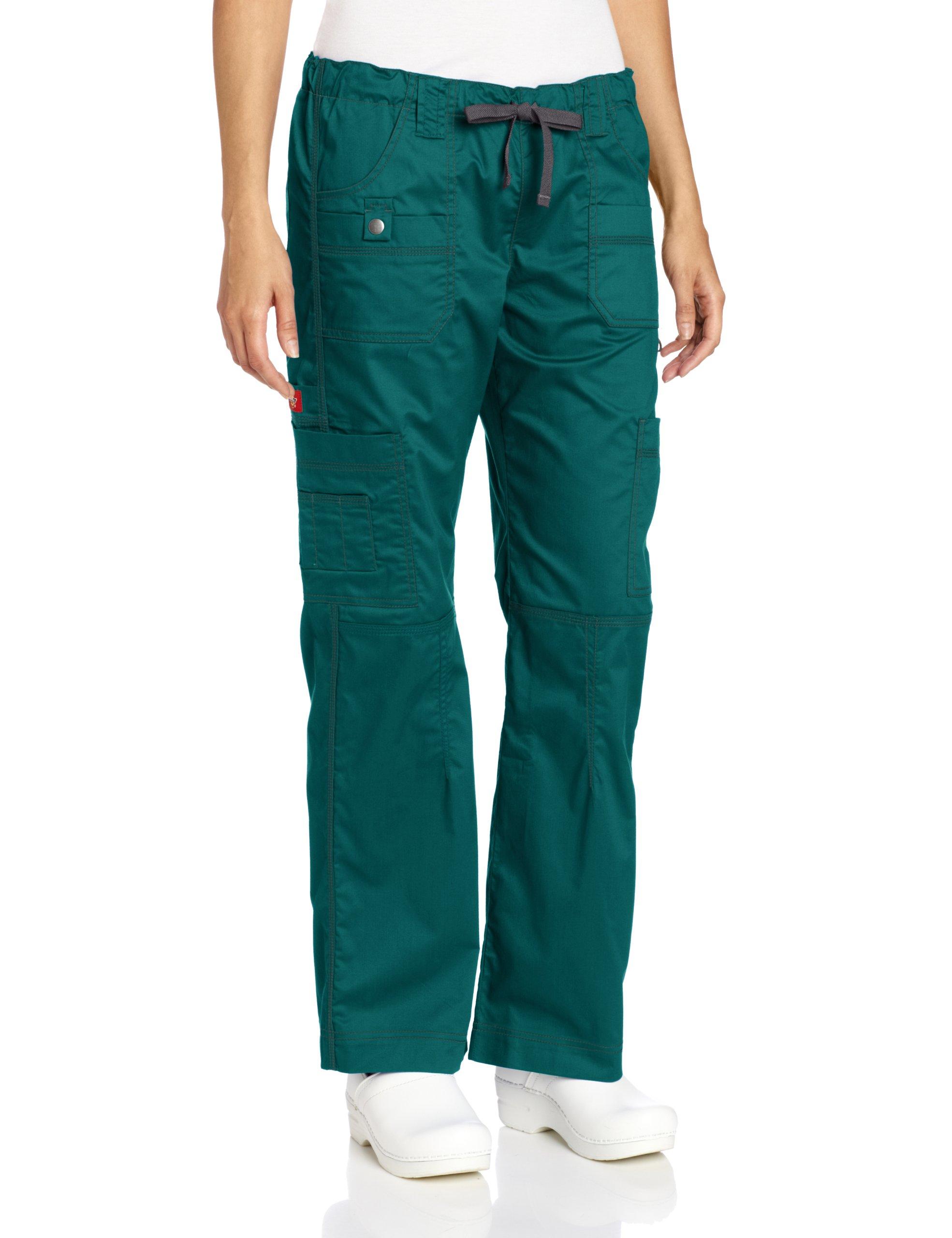 Dickies Women's Plus GenFlex Cargo Scrubs Pant, Hunter, XX-Large Petite by dickies