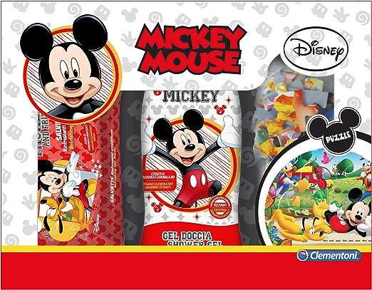 Glooke Selected Mickey Mouse Caja de Regalo de Ducha + Toallitas + Puzzle, Multicolor, única: Amazon.es: Hogar