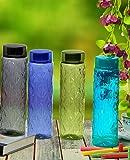 Steelo Sancia Plastic Water Bottle, 1 Litre, Set of 4, Multicolour