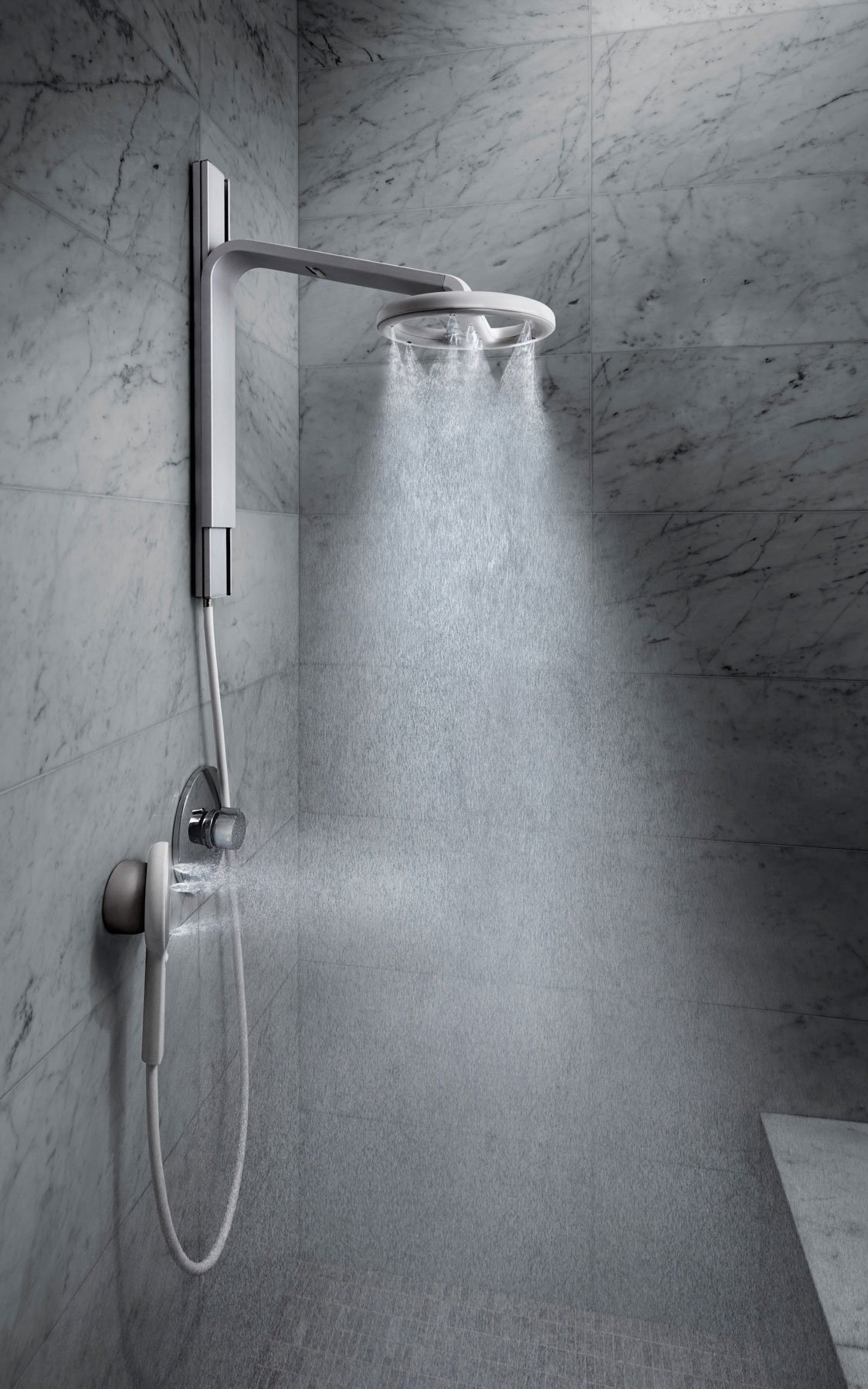 Nebia Spa Shower: Luxury Water Innovation. Sustainable Atomizing Shower System with 10'' Head, Handheld Wand, Adjustable Height. Award Winning Design, Aluminum, Easy DIY Install. Made in USA. by Nebia (Image #3)