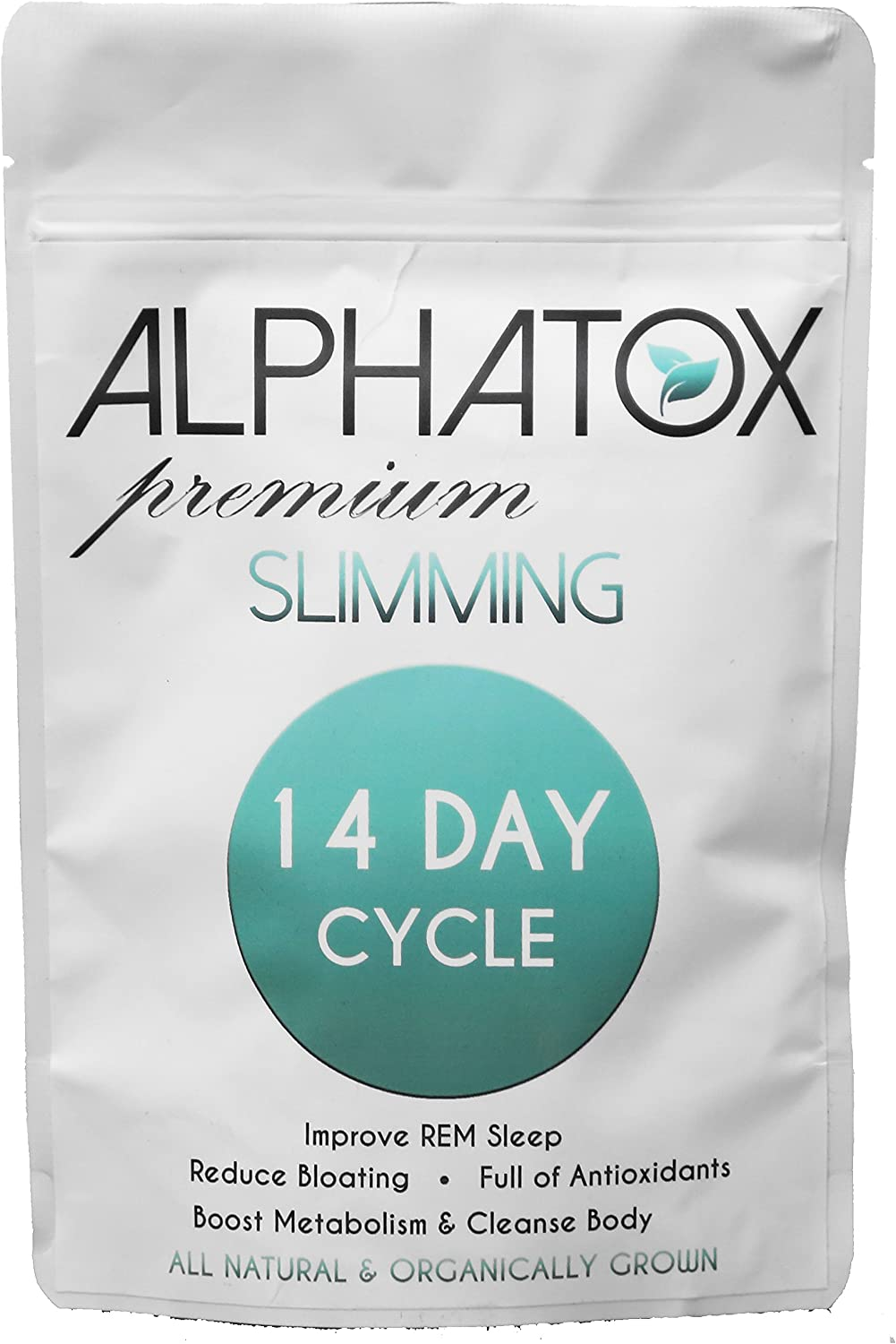 Alphatox 14 Day Premium Slimming Tea Cycle Lose Weight Naturally, Reduce Bloating and Improve REM Sleep 14 Herbal Tea Bags Organic Tea Full of Anti-oxidants