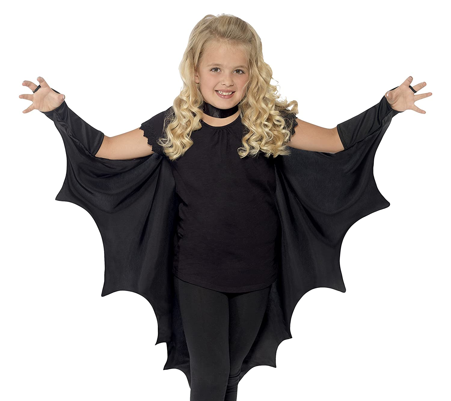 Amazon.com Smiffys Kids Unisex V&ire Bat Costume Wings Black One Size 44414 Smiffys Toys u0026 Games  sc 1 st  Amazon.com : girl vampire costumes for kids  - Germanpascual.Com