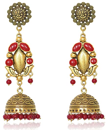 Responsible Kundan Jhumka Earrings Ethnic Gold Plated Jewelry Drop Pearl Bridal Women Online Shop Fashion Jewelry