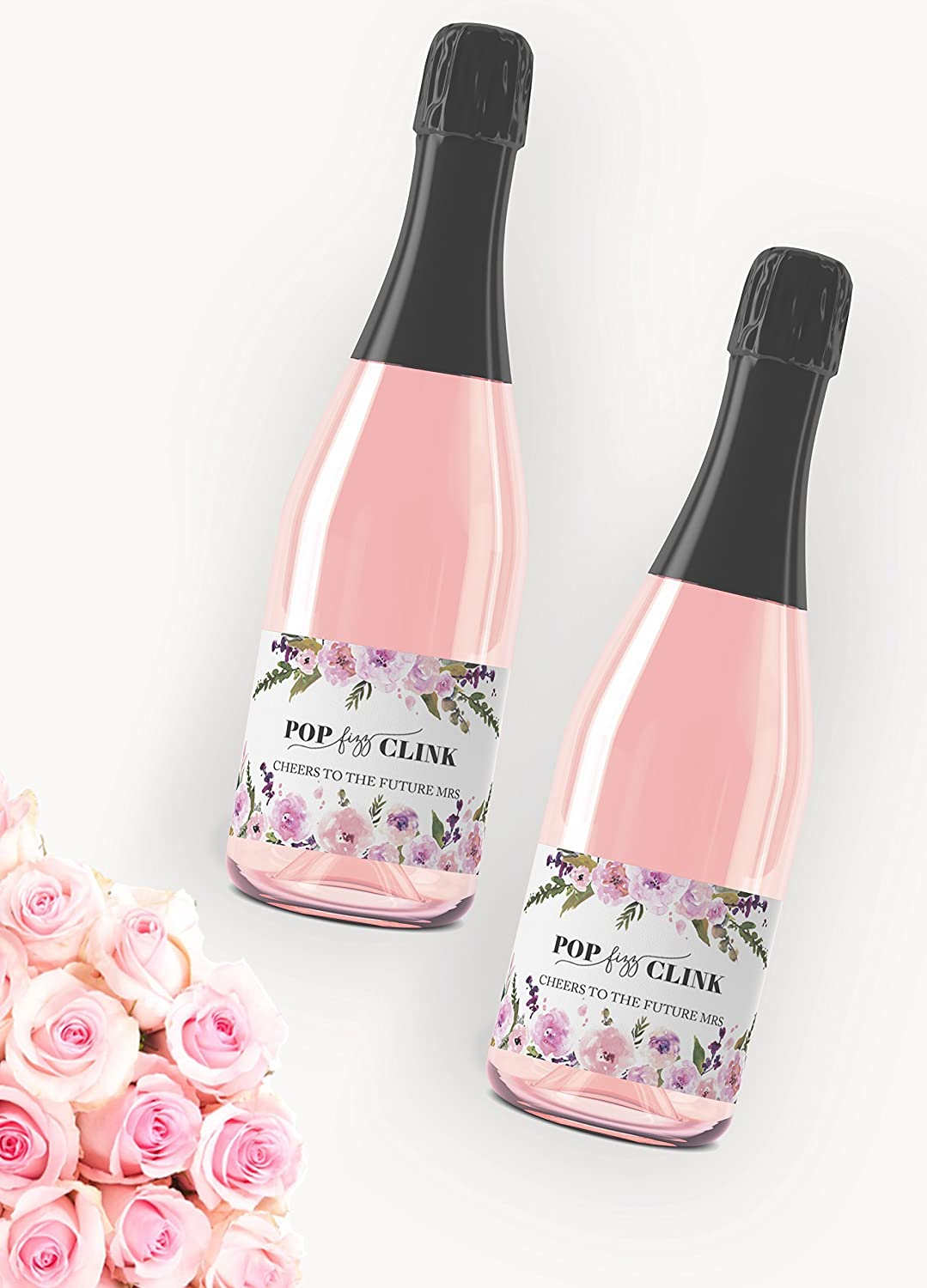 Amazon.com: Bachelorette Party Mini Champagne Labels ○ Pop Fizz ...