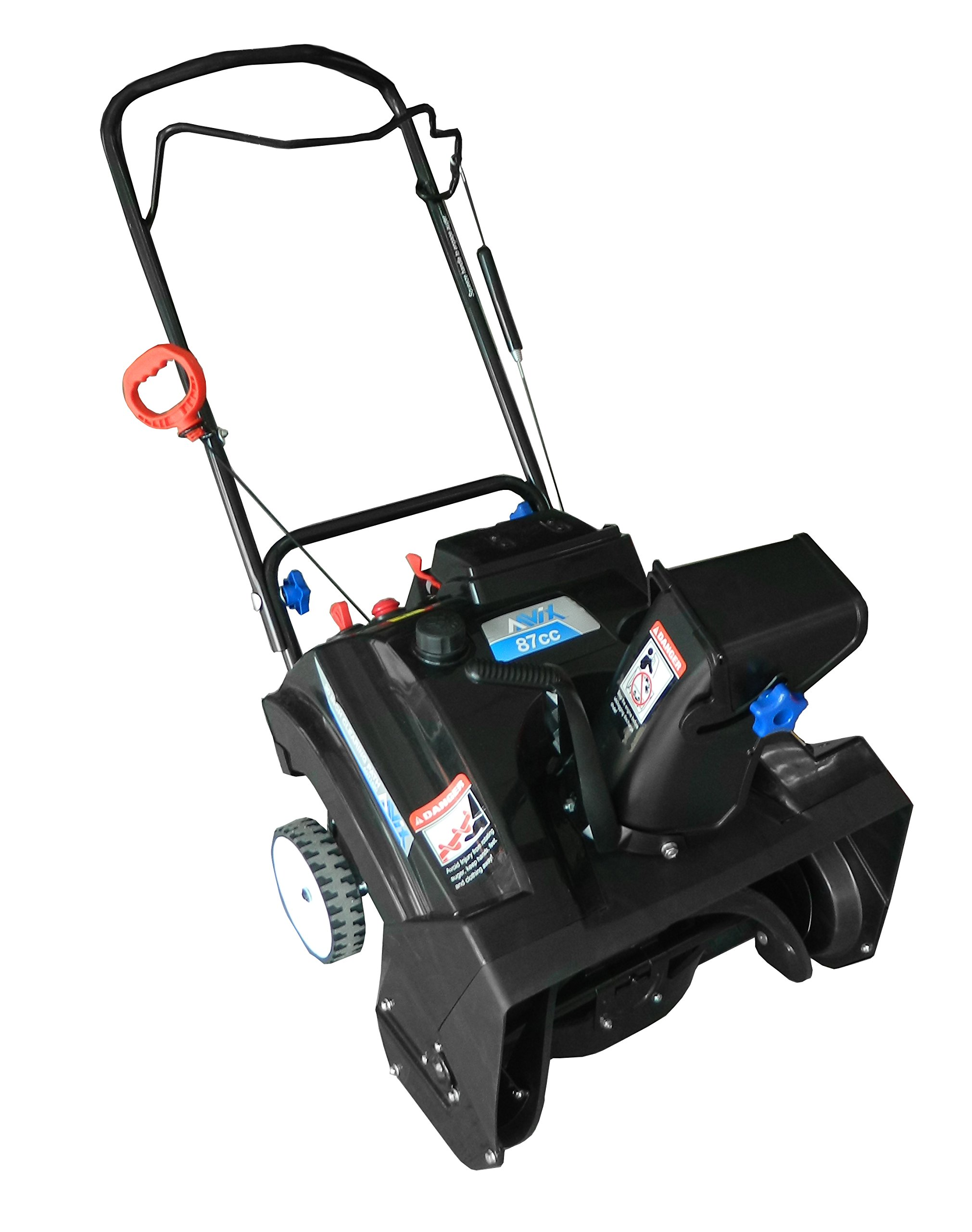 AAVIX AGT1420 Gas 87CC Powered Single Stage Snow Thrower, 20-Inch, Black/Blue by AAVIX