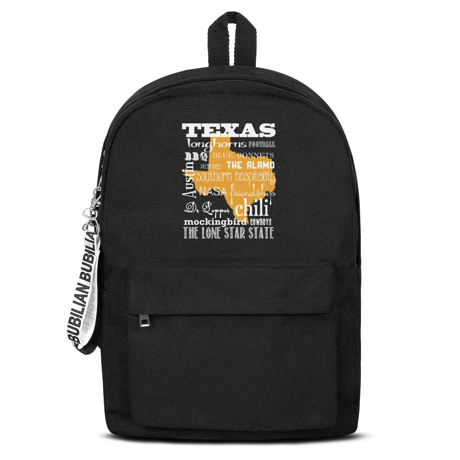 Laptop Bag HTLYT Students Novelty Quick-Dry Lightweight Canvas Crossbody Bag The-Classic-Lone-Star-State-Bottom-Text-White