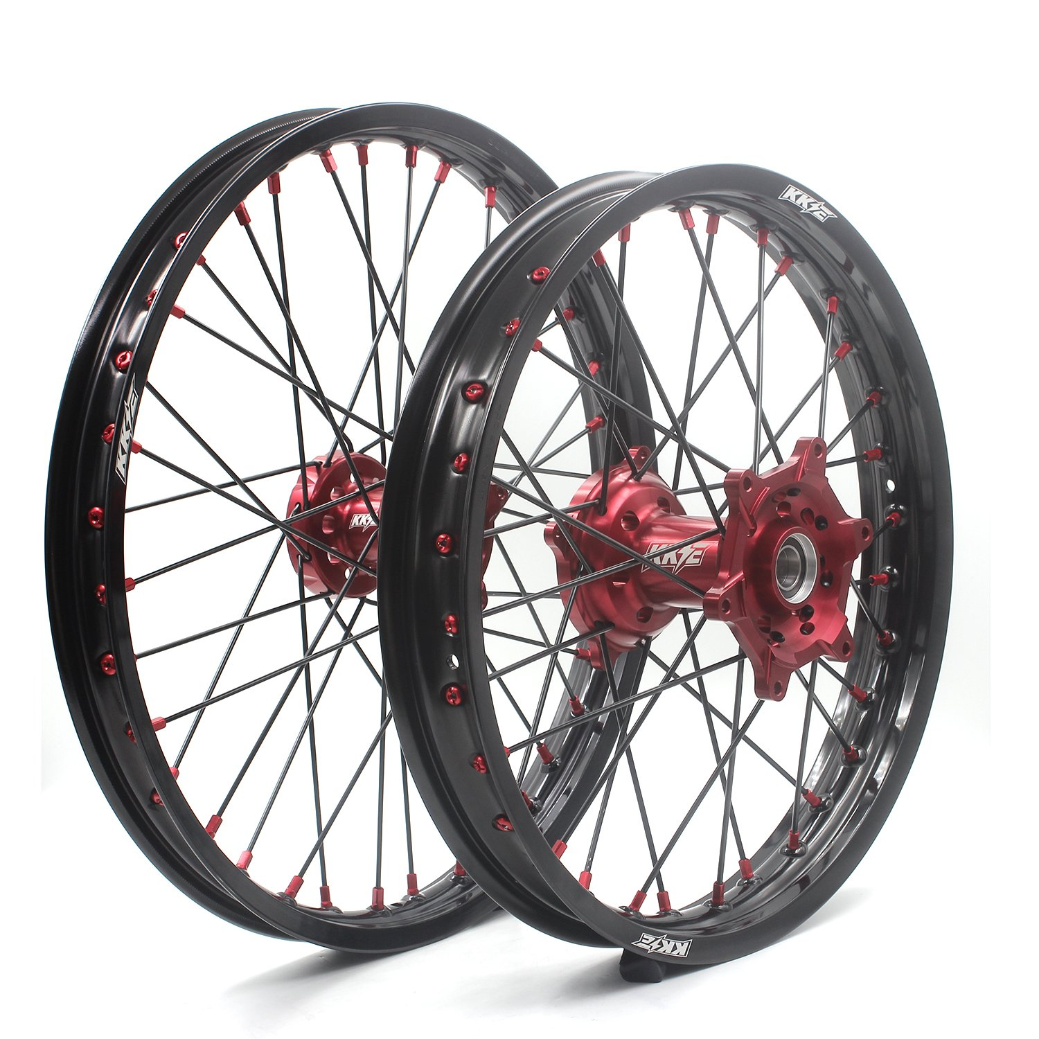 KKE HONDA MX CNC Wheel 21/19 CRF450R 13-17 CRF250R 14-17 Red Hub