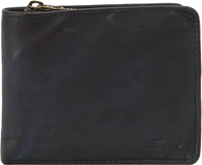 d2049164bf5f1 Ashwood Spitalfields 6 Card Bill Fold Men s Leather Wallet Tan   Navy Navy