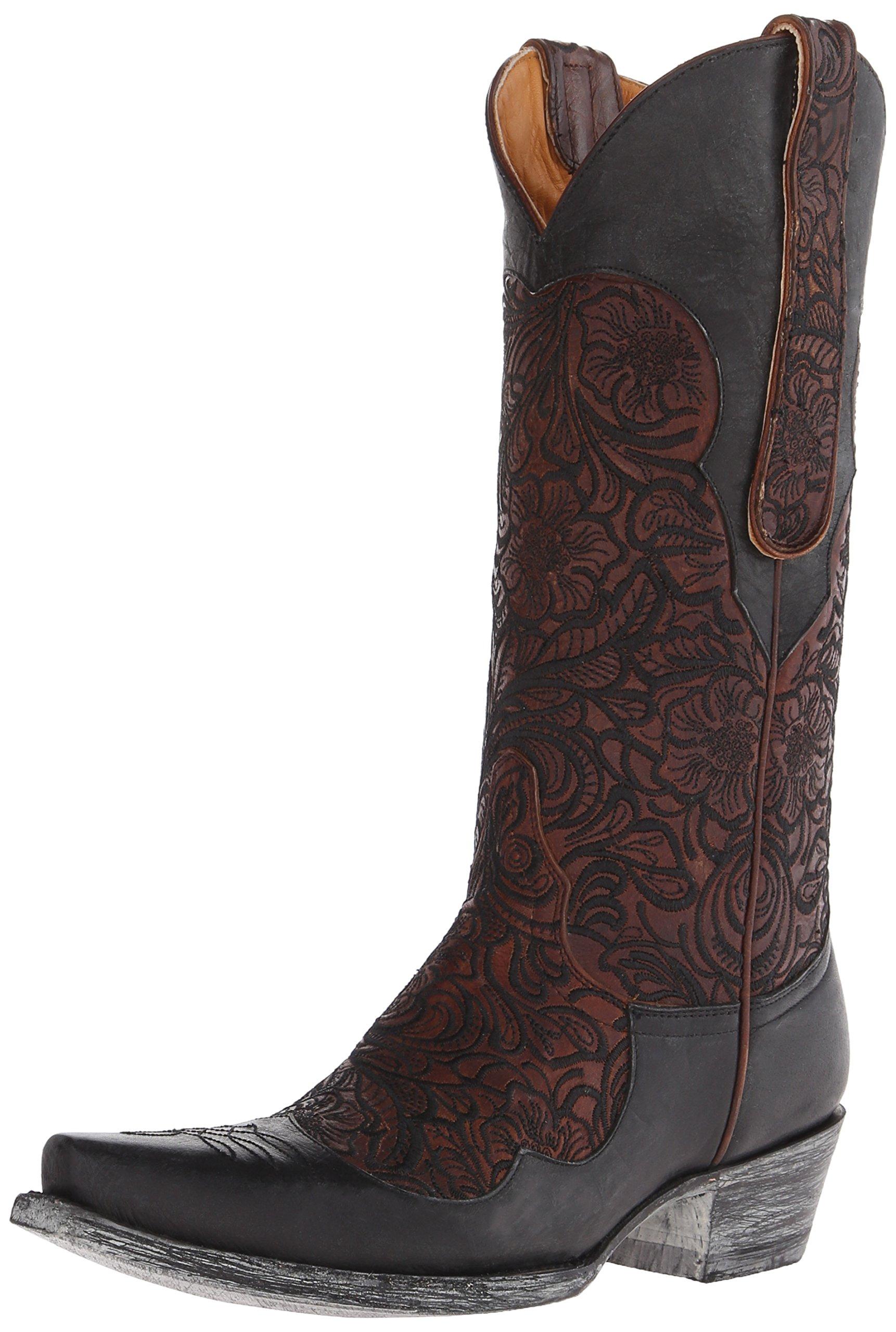 Old Gringo Women's Feita Western Boot, Brass/Black, 8 B US