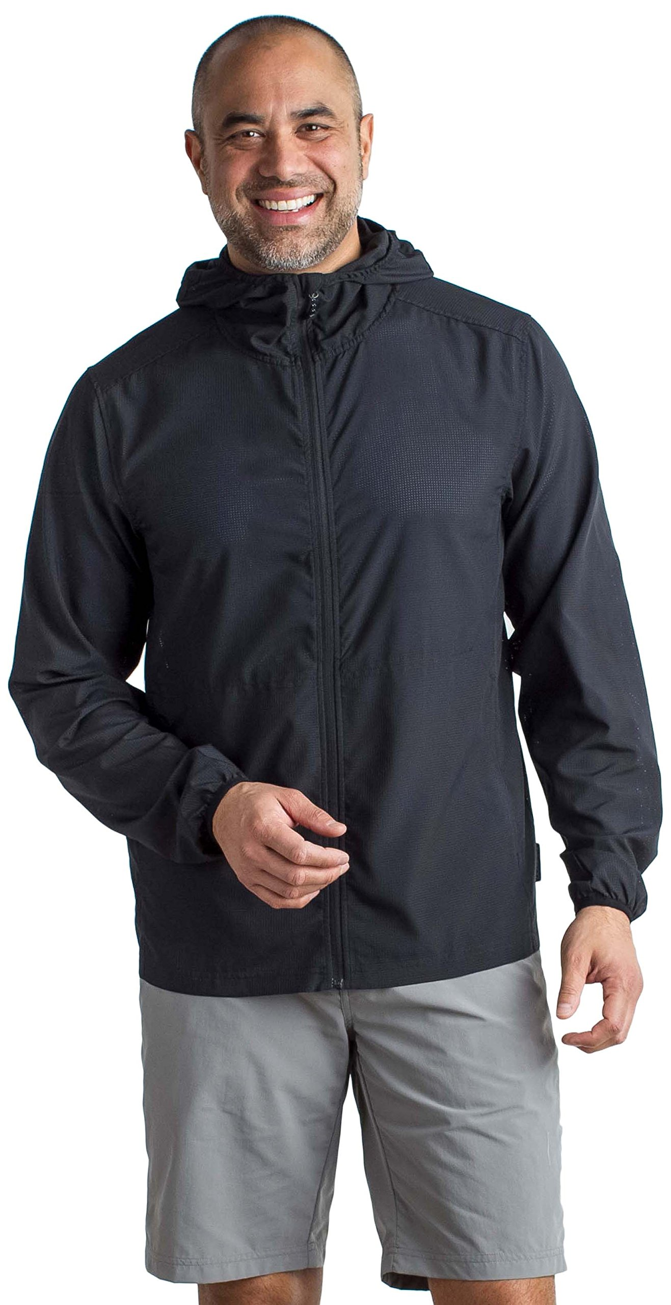 ExOfficio Men's BugsAway Ventana Lightweight Hooded Jacket, Black, Medium by ExOfficio