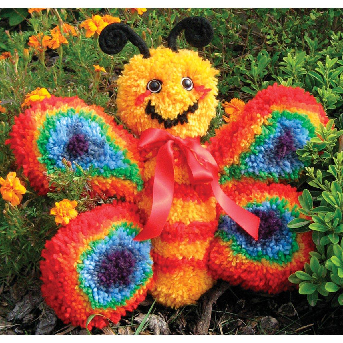 MCG Textiles Huggables Animal Butterfly Latch Hook Kit