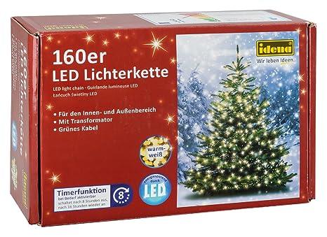 Idena LED Lichterkette 160er, Ca. 23,90 M, Für Innen/außen