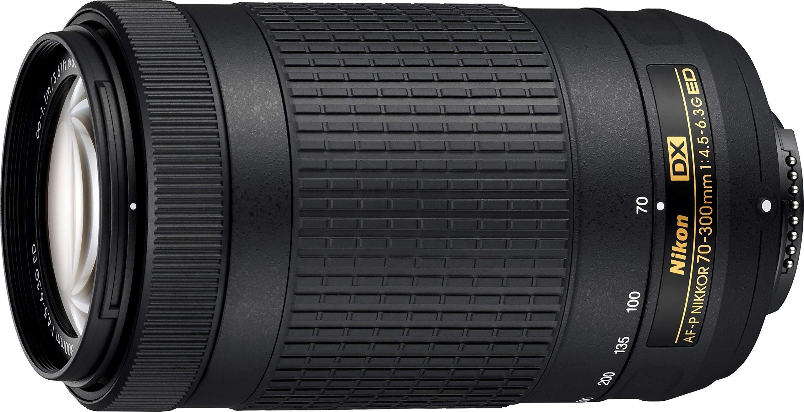 Nikon AF-P DX NIKKOR 70-300mm f/4.5-6.3G ED Lens for Nikon DSLR Cameras, Model 20061 (Renewed) by Nikon