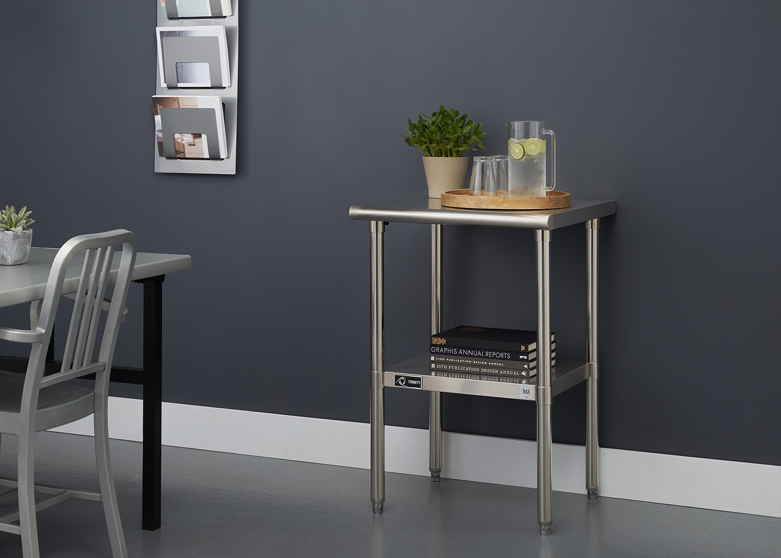 TRINITY EcoStorage NSF Stainless Steel Table, 24-Inch by Trinity (Image #4)