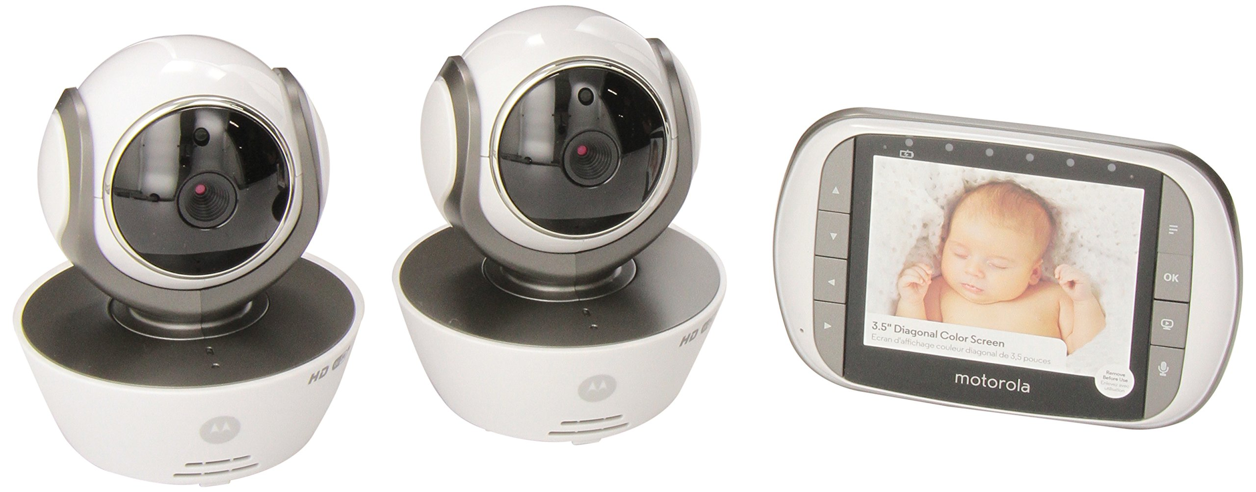 Motorola MBP853CONNECT-2 Dual Mode Baby Monitor with 2 Cameras and 3.5-Inch LCD Parent Monitor and Wi-Fi Internet Viewing by Motorola Baby (Image #1)
