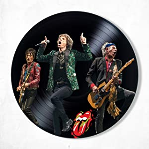The Rolling Stones Vinyl Decor, Wall Decor Vinyl Painted The Rolling Stones, Original Gifts for Music Fans, Original Gift for Home Decor