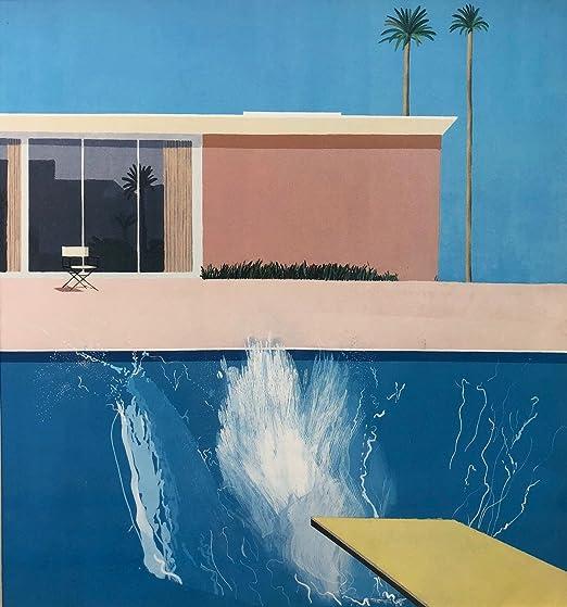 0974D New David Hockney A Bigger Splash Artist Custom-Print Art Silk Poster