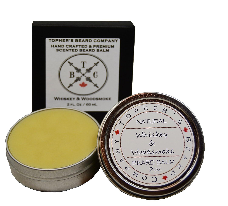 Premium Scented Beard Balm (Whiskey & Woodsmoke) Topher's Beard Company