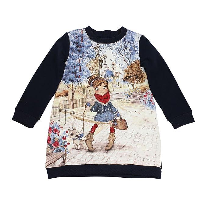 Mayoral - Vestido - ajustado - Manga Larga - para niña azul marino 110 cm
