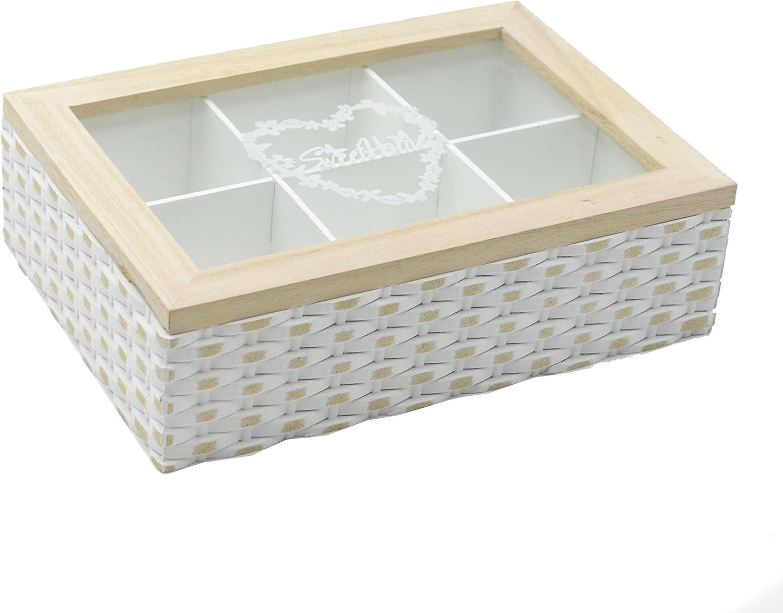 Caja madera clasificadora para infusiones con 6 departamentos en ...