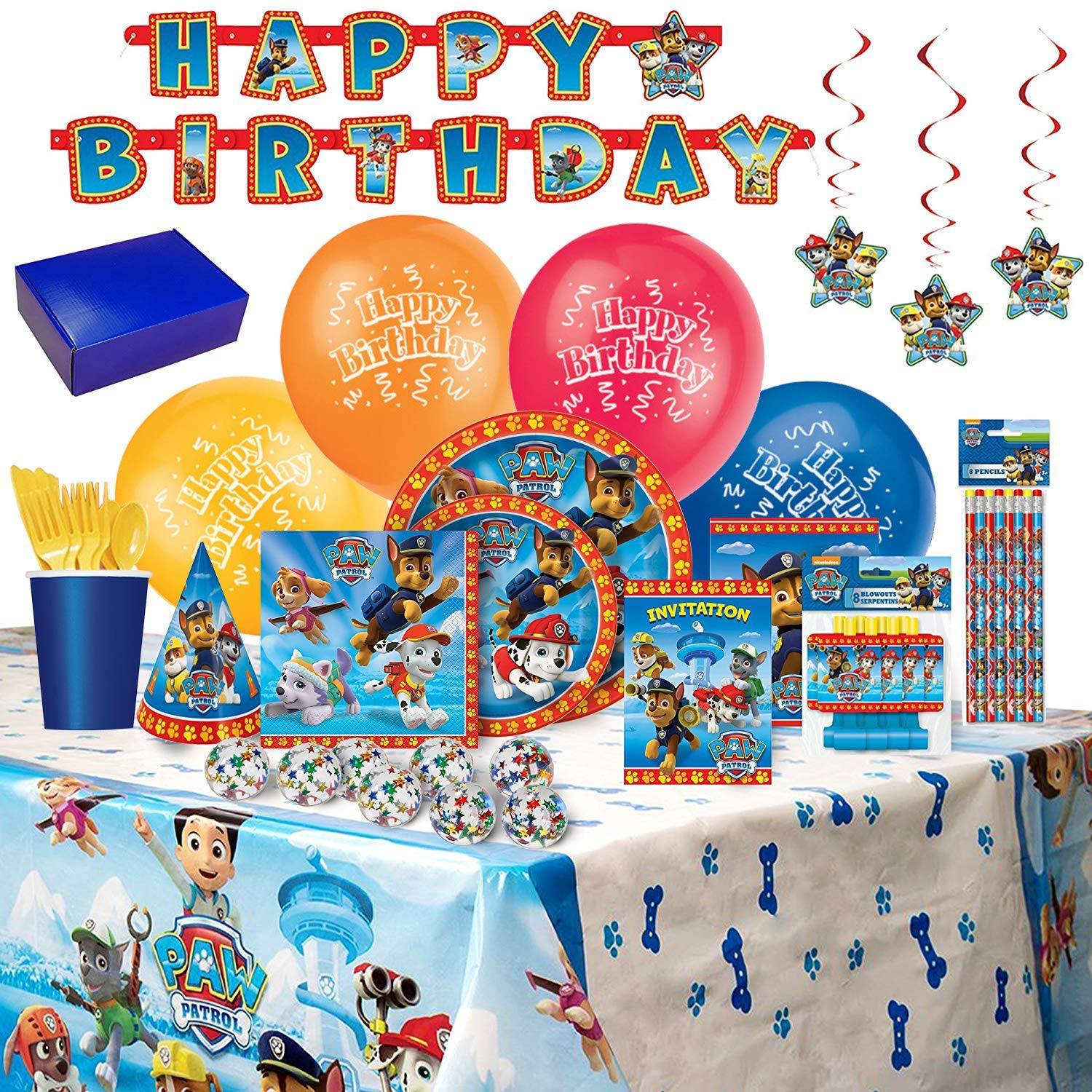 Paw Patrol Birthday Party Supplies And Decorations 8 Guests
