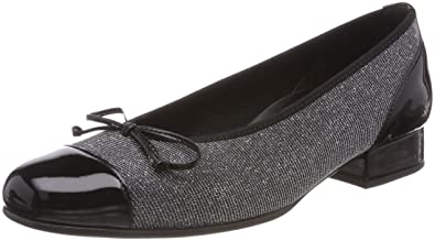 f040898f8a Gabor Shoes Women's Comfort Basic Ballet Flats, Grey (Argento), 6 UK