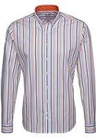 Seidensticker Herren Hemd Schwarze Rose Slim Fit Button-Down-Kragen mehrfarbig gestreift mit Patch Gr. 38 - 46 / 228472.65