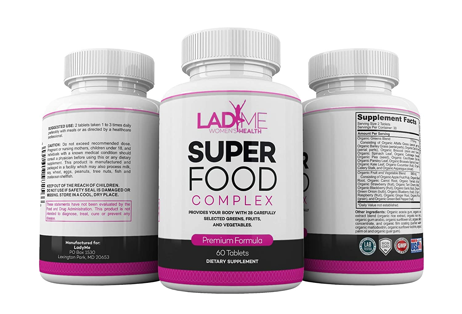 Organic SuperFood Complex for Women- Best Super Greens Supplement with 14  Greens and