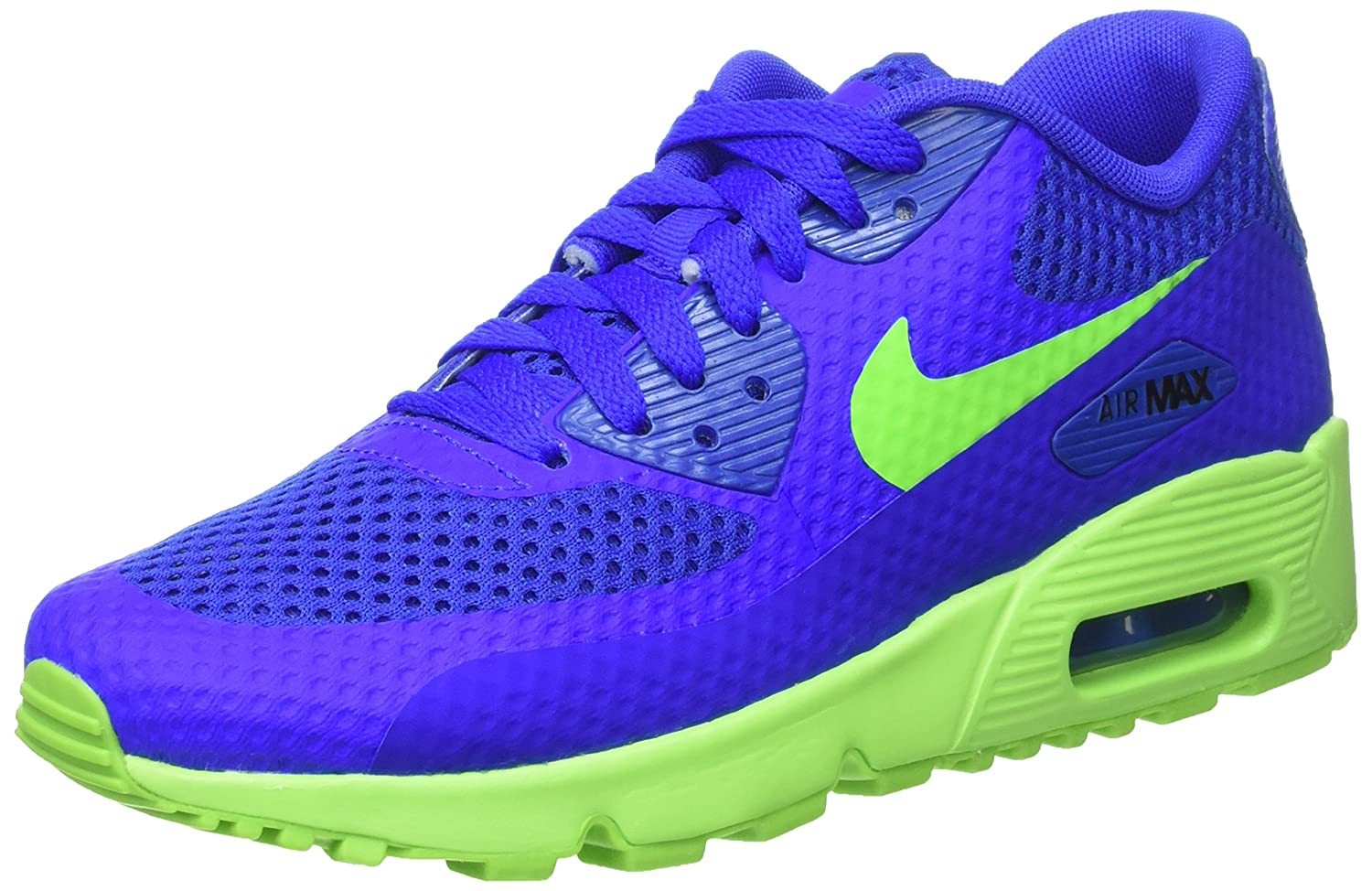 size 40 59c22 da2e9 Amazon.com   NIKE AIR MAX 90 BR (GS) Boys Running-Shoes 833475-400 6Y -  Racer Blue Electric Green-Black   Running