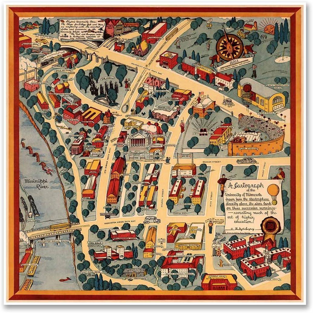 University Of Minnesota Campus Map Amazon.com: Antiguos Maps   University of Minnesota Campus Guide