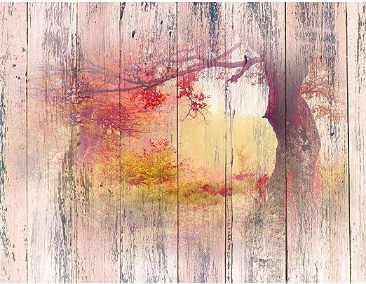 Fototapeten Wald Holzoptik 352 x 250 cm Vlies Wand Tapete Wohnzimmer  Schlafzimmer Büro Flur Dekoration Wandbilder XXL Moderne Wanddeko - 100%  MADE IN ...