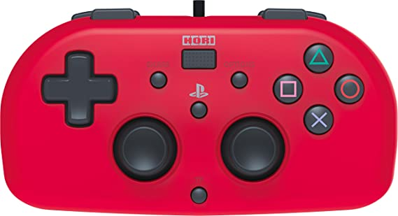 Hori - Mando Mini Con Cable, Color Rojo (PS4)
