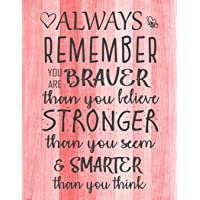 Always Remember You are Braver than you believe - Stronger than you seem & Smarter thank you think: Inspirational…