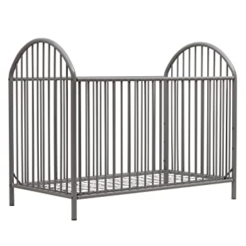 Amazon.com: novogratz Prisma metal para cuna, color gris: Baby