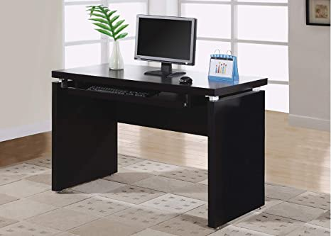Miraculous Monarch Specialties Pull Out Keyboard Tray Computer Desk Home Office Computer Desk 48L Cappuccino Interior Design Ideas Skatsoteloinfo