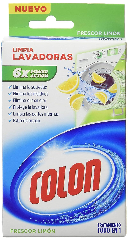 Colon Limpialavadoras Limón - 12 Paquetes de 250 ml - 3 L: Amazon ...
