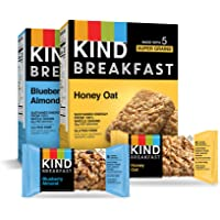 KIND Breakfast Bars Variety Pack, Blueberry Almond & Honey Oat, 1.8oz, 16 Count