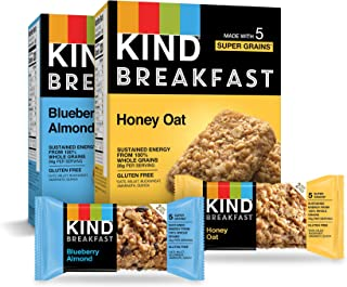 product image for KIND Breakfast Bars Variety Pack, Blueberry Almond & Honey Oat, 1.8oz, 16 Count