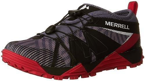 Merrell Avalaunch, Zapatillas de Running para Asfalto para Mujer, Gris (Folkstone), 41 EU