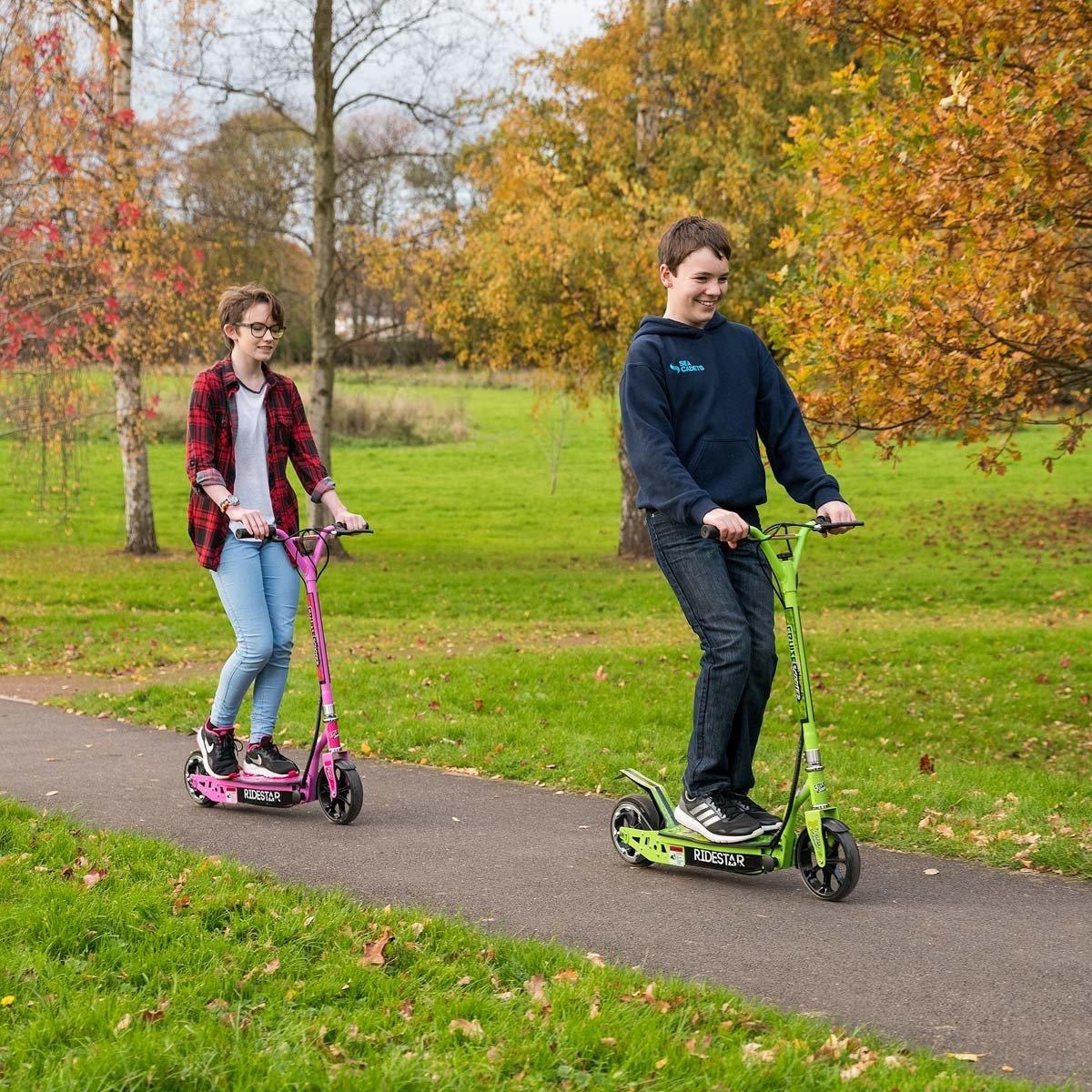 RideStar Patinete eléctrico plegable para niños, motorizado ...