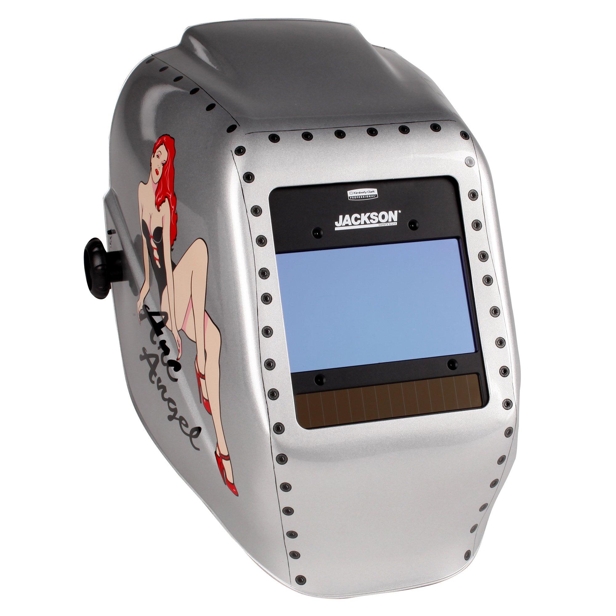 Jackson Safety Insight Variable Auto Darkening Welding Helmet, HaloX (46130), Arc Angel, 1 Helmet / Order